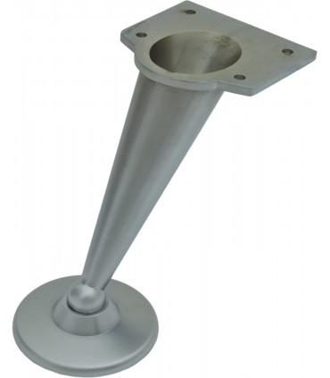 Pied de meuble design profil courbe sur platine hauteur 120 mm