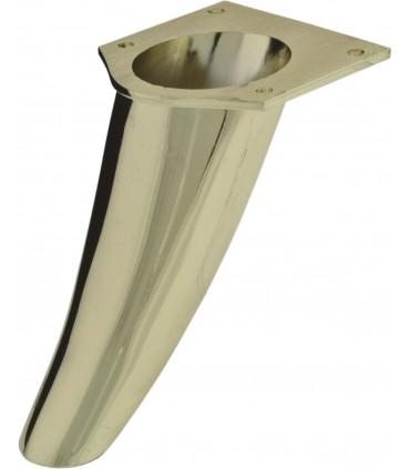 Pied de meuble design profil courbe hauteur 110 mm
