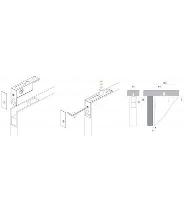 Pivot supérieur pour porte en bois
