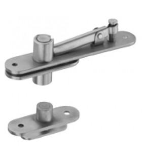 Kit pivot pour porte double action en bois poids maxi 80 kg