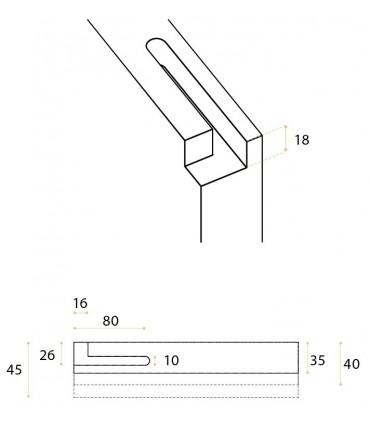 Kit pivot pour porte simple action en bois maxi 40 kg