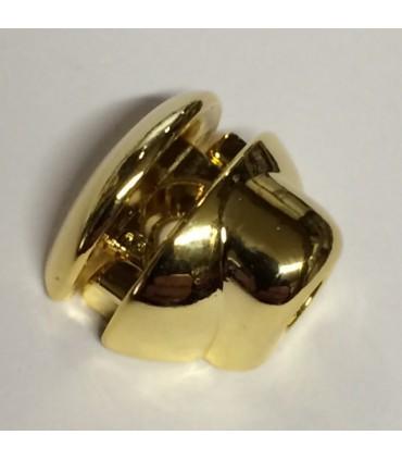Taquet en métal doré pour étagère en verre