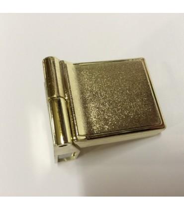 Charnière haute ou basse doré brillant