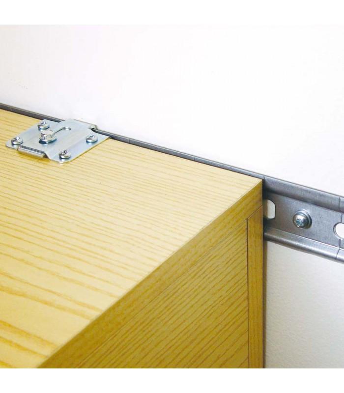 rail en acier galvanis pour l 39 accroche des l ments meubles hauts. Black Bedroom Furniture Sets. Home Design Ideas