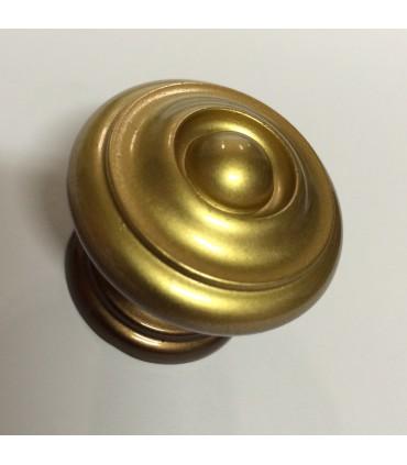 Poignée bouton de meuble finition bronze rustique
