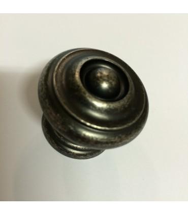 Poignée bouton de meuble finition étain rustique