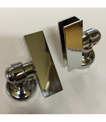 Set de deux fixations pour miroirs basculants