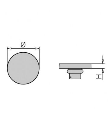 Dome anti-glisse rond plat en PVC
