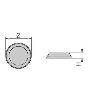 Dome anti-glisse rond conique en PVC adhésif translucide
