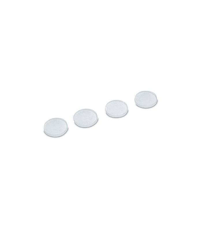 Dome anti-glisse rond plat en PVC adhésif translucide