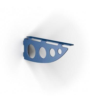Support pour étagère bois Serenissima bleu gaufré