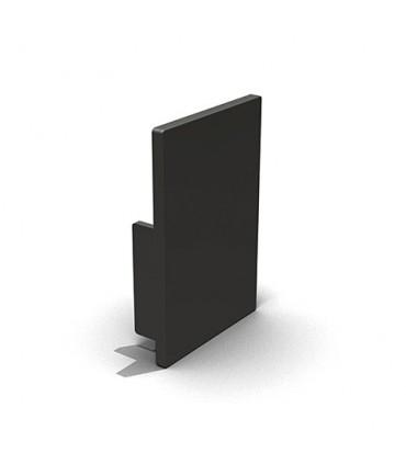Embout pvc noir pour profil aluminium hauteur 30 ou 40 mm
