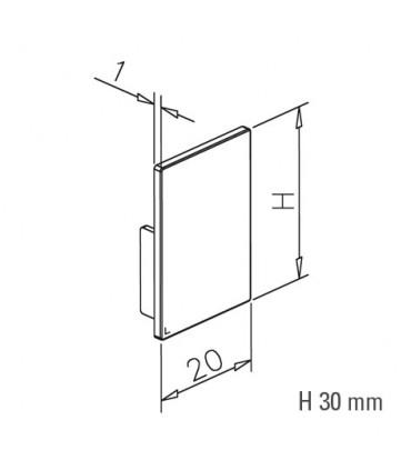 Embout pvc noir pour profil aluminium hauteur 30 mm