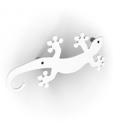 Patère design série Geko blanc by Bolis Italia