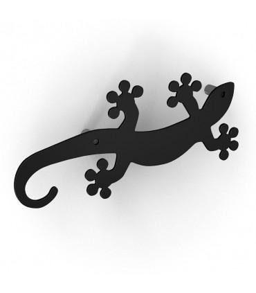 Patère design série Geko noir by Bolis Italia