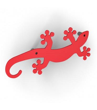 Patère design série Geko rouge by Bolis Italia