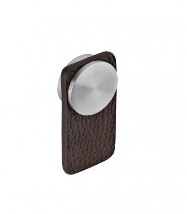 Poignée bouton en cuir pour meuble