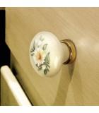 Bouton de meuble en porcelaine