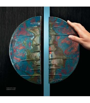 Poignée de porte céramique Raku