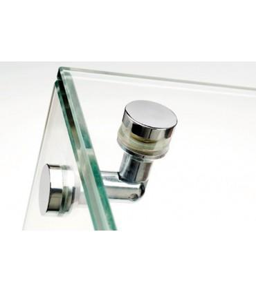 Pince et connecteur pour vitrine en verre