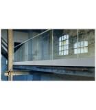Profils aluminium pour garde-corps en verre